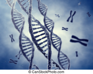 Genetic engineering - Dna double helix molecules and...