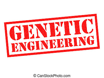 GENETIC ENGINEERING red Rubber Stamp over a white background...