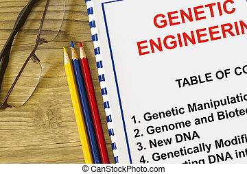 Genetic engineering research and seminar - concept for a ...