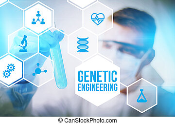 Genetic engineering research concept of human biotech ...