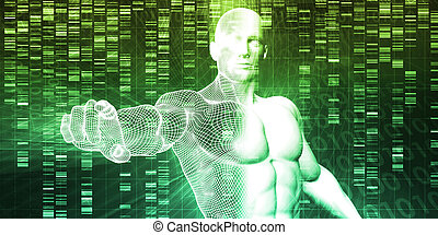 Genetic Engineering Science Research and Development Concept