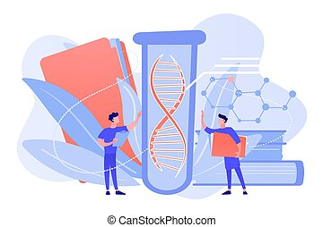 Genetic testing concept vector illustration.