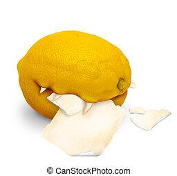 Genetically modified lemon - killer with a sharp teeth