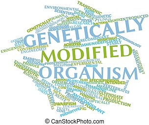 Genetically modified organism - Abstract word cloud for...