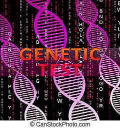 genetico, prova, mezzi, dna, ricerca, 3d, illustrazione