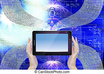 Cloning Computer. New Technology - Genetics Engineering. ...