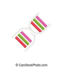 genetics  flat color icon