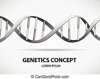 Poster of genetics concept in grayscale