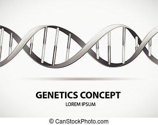 Genetics - Poster of genetics concept in grayscale