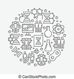 Genetics round illustration