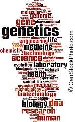 Genetics word cloud