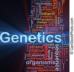 genetik, glühen, begriff, dns, hintergrund