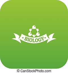 genetisch, vektor, grün, biologie, ikone
