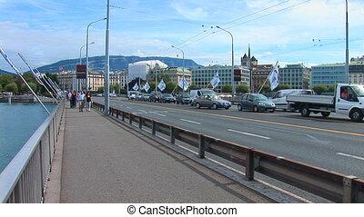 Geneve: Mont Blanc bridge