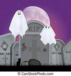 gengångare, kyrkogård