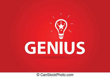 geni, planlägga, idé