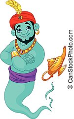 Genie  - Illustration of cute Genie