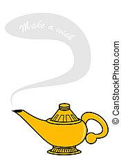 Genie Lamp - Make a wish genie lamp