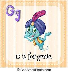 Genie - Flashcard alphabet G is for genie