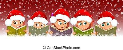 genieten, boekjes , kinderen, chriatmas