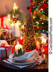 genieten, jouw, kerstavond