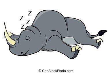 genieten, neushoorn