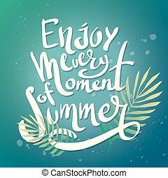 genieten, zomer, moment, elke