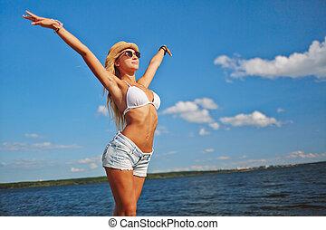 genieten, zomer