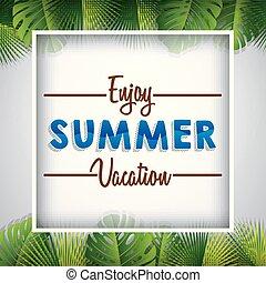 genieten, zomer vakantie