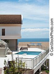 genieting, zomer, luxe, villa