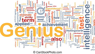 genio, concetto, fondo, intelligenza