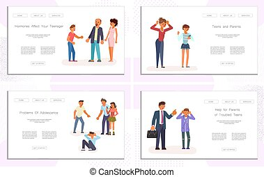 genitore, adolescente, conflitto