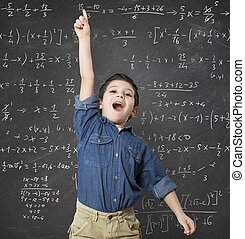 Genius child solves a mathematical calculation difficult