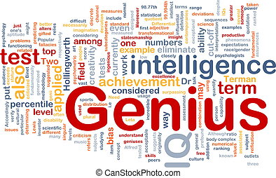 Genius intelligence background concept
