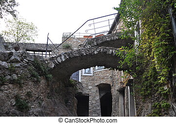 Genoa Caruggio - Caruggio of Genoa narrow streets in the old...