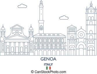 Genoa City Skyline, Italy