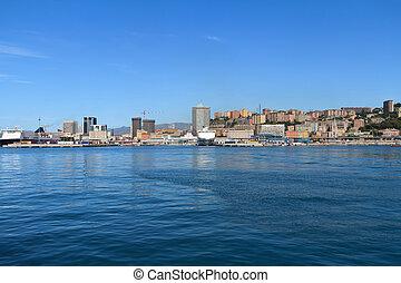 Genoa cityscape, Italy