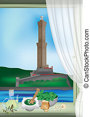 Genoa Lantern and pesto