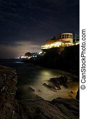 Genoa Nervi by night