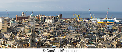 Genoa, old town - The characteristic old houses in Genoa
