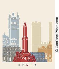 Genoa skyline poster