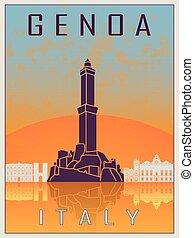 Genoa Vintage Poster