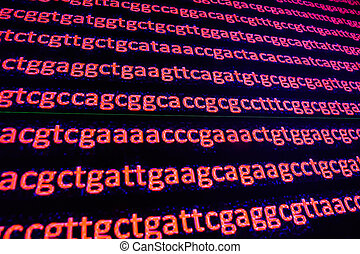 Genome sequencing. The deciphering of the DNA code, write...