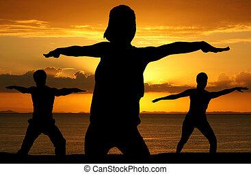 genomkörare, yoga