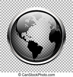 genomskinlig glob