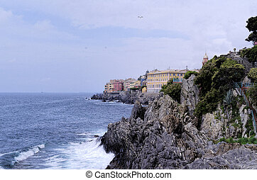 genova nervi a very beautiful village in italy