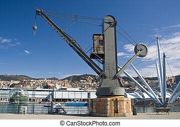 Genova , old port crane