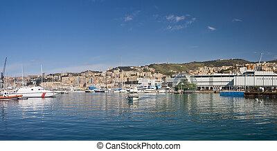 Genova, Old Port panorama