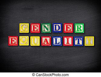 genre, égalité, concept