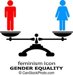 genre, égalité, icône